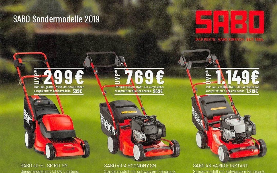 Sabo Sondermodelle 2019
