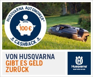 Husqvarna Automower Cashback Aktion.