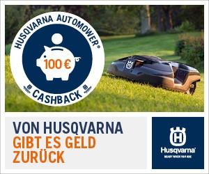Husqvarna Automower Cashback Aktion.