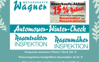 Winterinspektion für Mähgeräte
