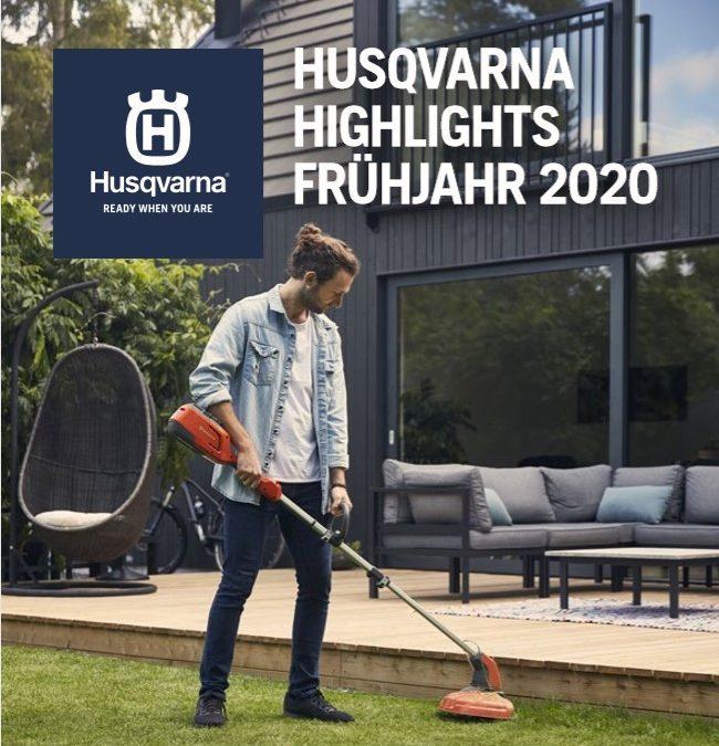 Husqvarna Aktion verlängert bis 31.05.2020