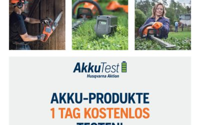 Husqvarna Akku-Produkte 1 Tag kostenlos testen