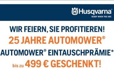 Husqvarna Automower Eintauschprämie