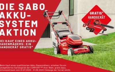 Sabo Handgerät gratis zum Rasenmäher