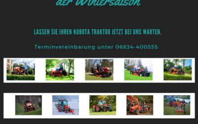 Wartung Kubota Traktor