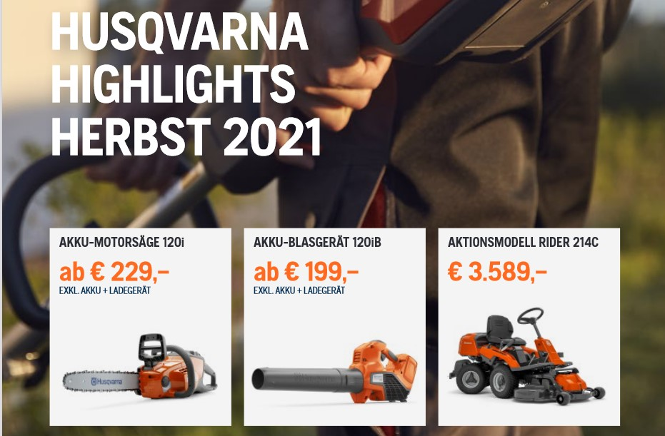 Husqvarna Herbst Highlights 2021