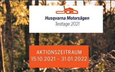 Husqvarna Motorsägen Testtage 2021