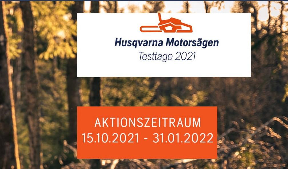 Start: Husqvarna Motorsägen Testtage 2021